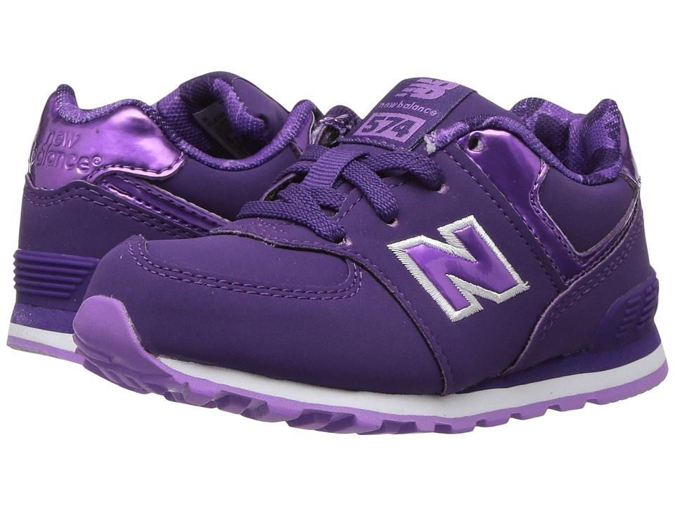 New Balance Kids KL574v1 (Infant/Toddler) (Purple/Lilac) Girls Shoes