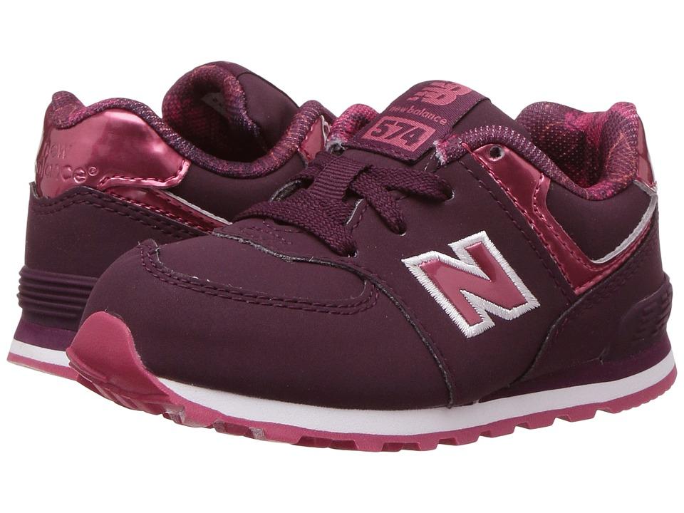 New Balance Kids KL574v1 (Infant/Toddler) (Dark Pink/Red) Girls Shoes