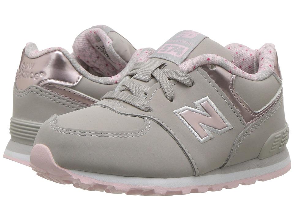 New Balance Kids KL574v1 (Infant/Toddler) (Pink/Grey 2) Girls Shoes