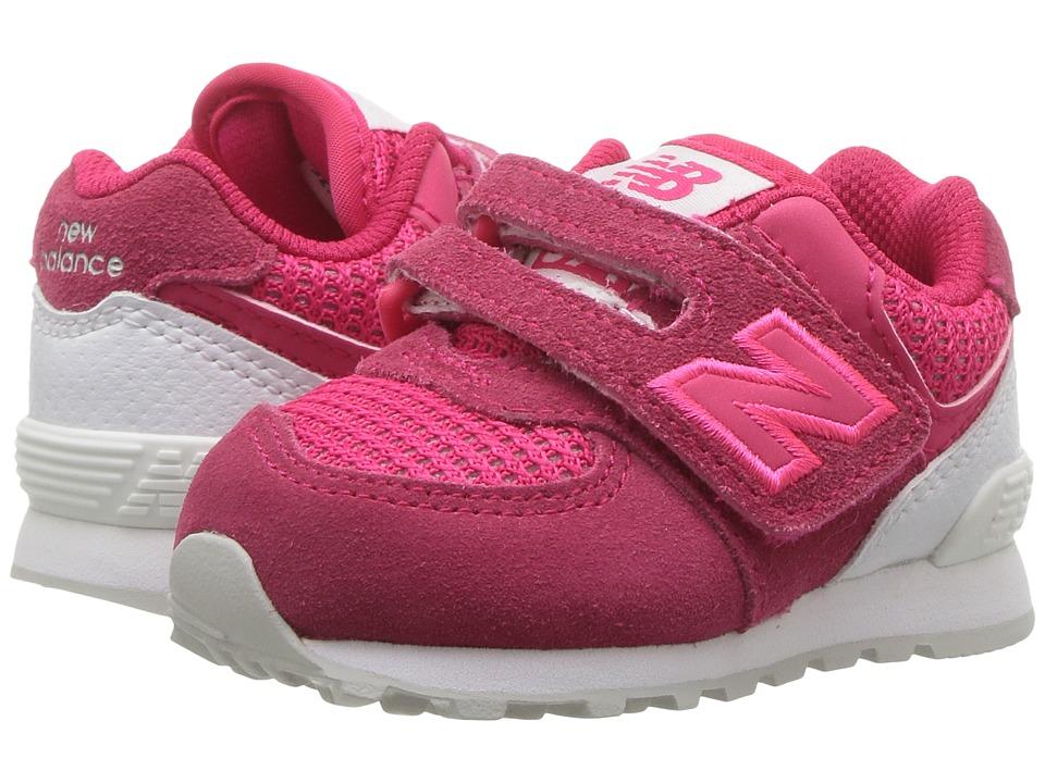 New Balance Kids KV574v1 (Infant/Toddler) (Pink/White) Girls Shoes