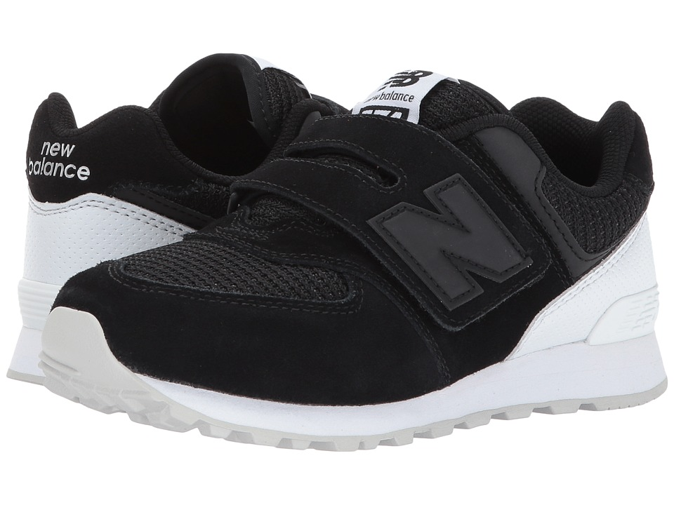 New Balance Kids KV574v1 (Little Kid/Big Kid) (Black/White) Boys Shoes