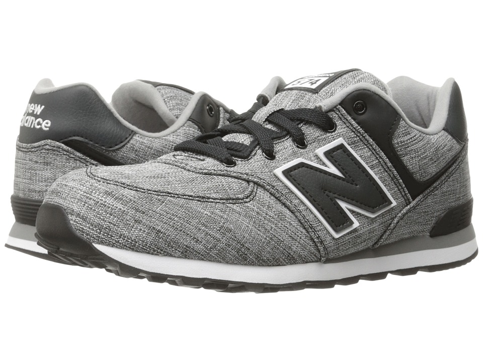 New Balance Kids KL574v1 (Big Kid) (Black/White 2) Boys Shoes