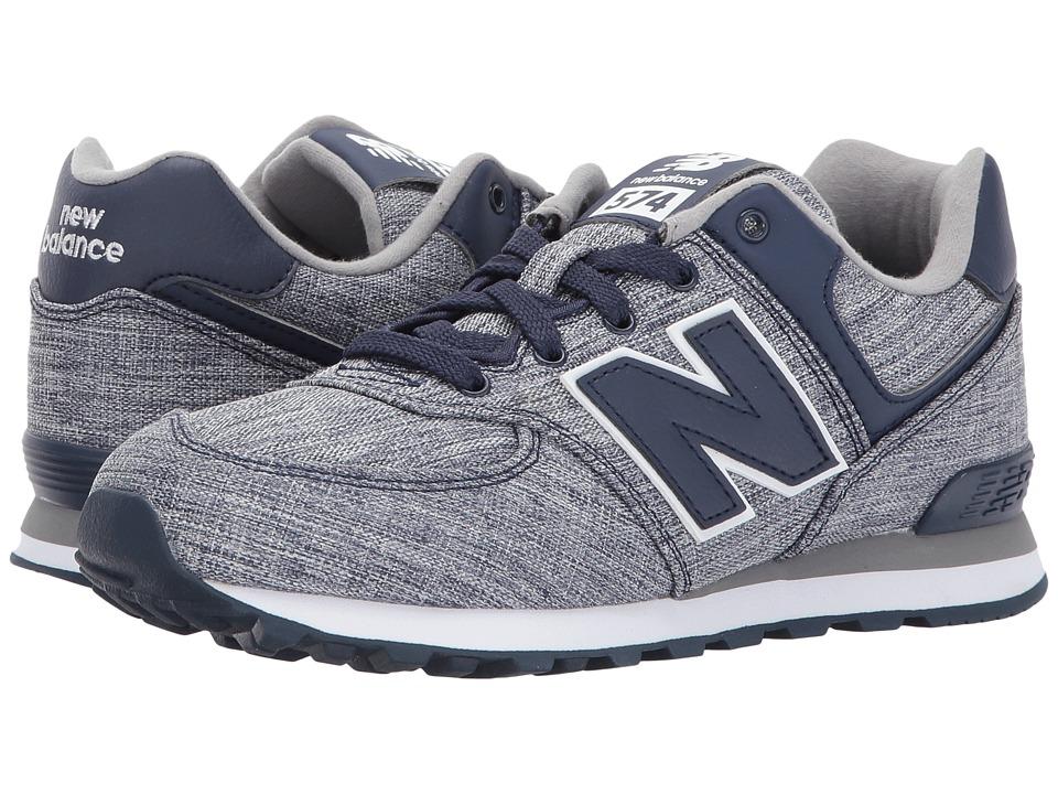 New Balance Kids KL574v1 (Big Kid) (Blue/White 2) Boys Shoes