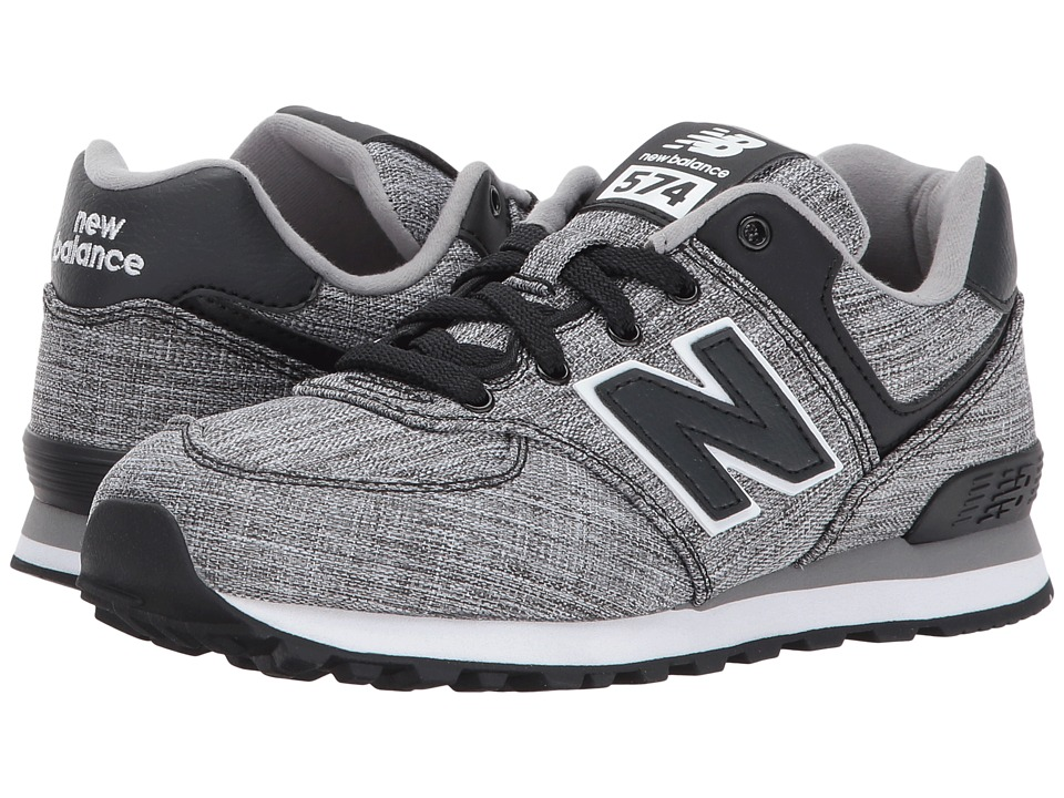 New Balance Kids KL574v1 (Little Kid) (Black/White 2) Boys Shoes