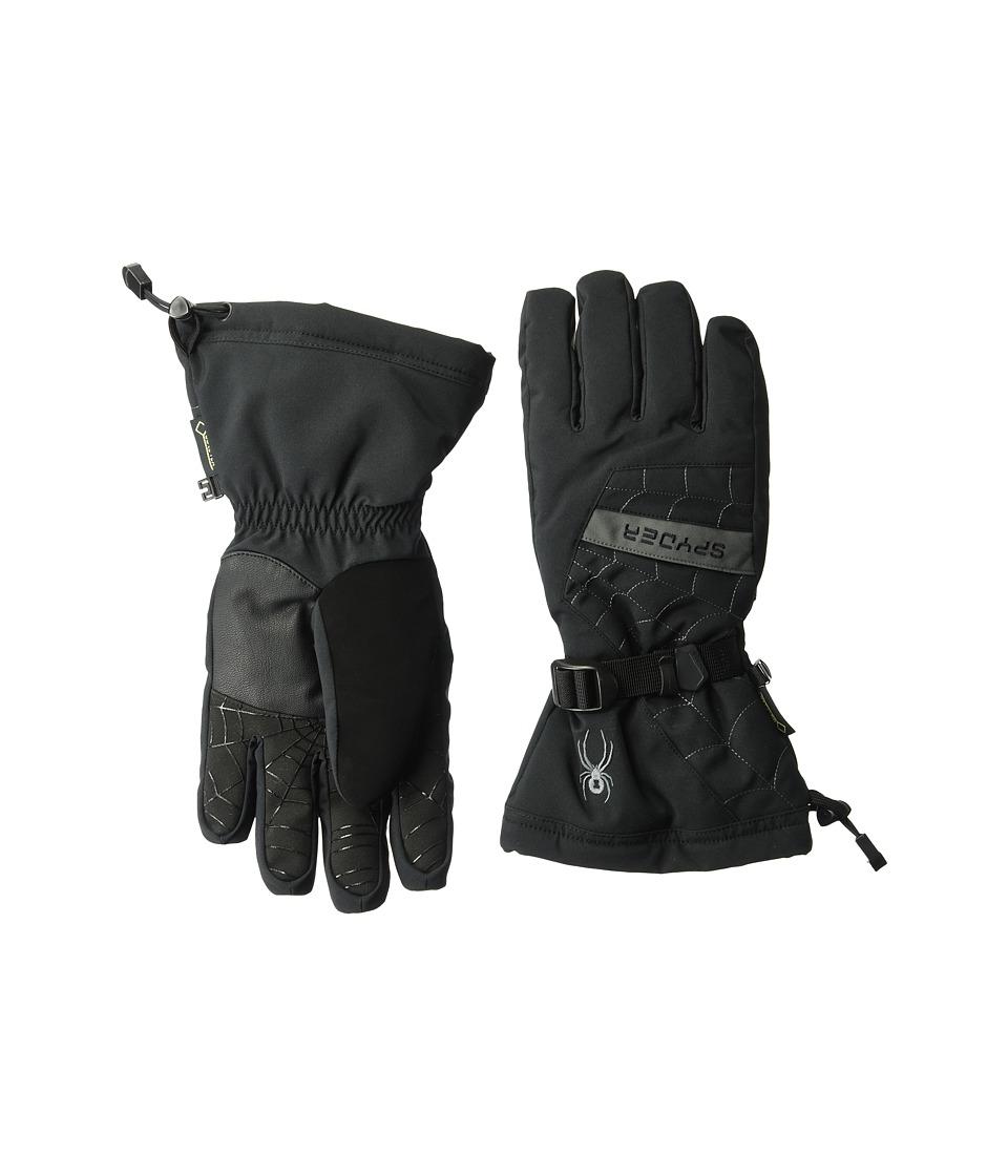 Spyder Overweb Gore-Tex(r) Ski Glove (Black Polar) Over-Mits Gloves