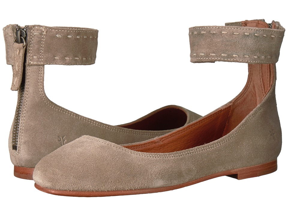 Frye - Carson Ankle Ballet (Ash Soft Oiled Suede) Womens Flat Shoes