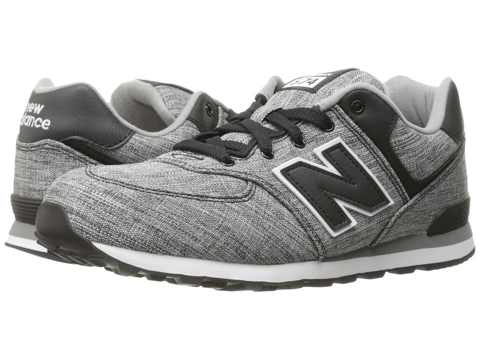 New Balance Kids KL574v1 (Infant/Toddler) (Black/White 2) Boys Shoes
