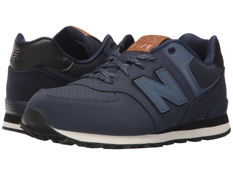 New Balance Kids KL574v1 (Big Kid) (Blue/Black) Boys Shoes