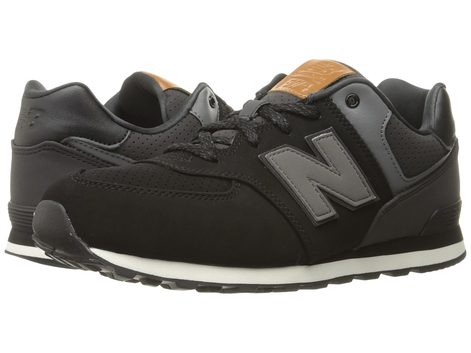 New Balance Kids KL574v1 (Big Kid) (Black/White 3) Boys Shoes