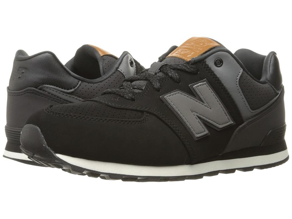 New Balance Kids KL574v1 (Big Kid) (Black/White 3) Boys Shoes
