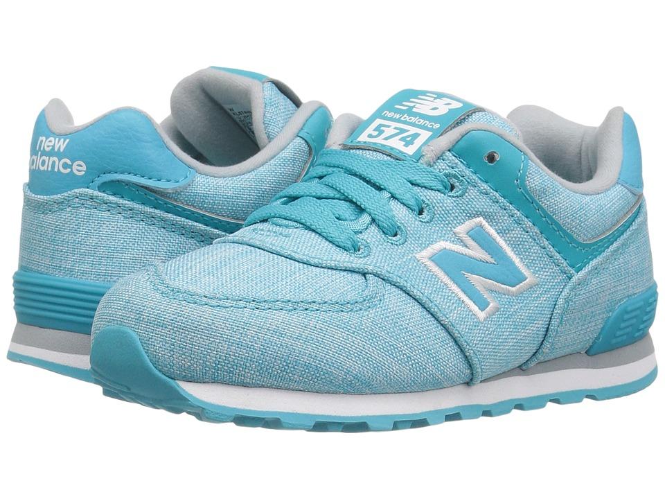 New Balance Kids KL574v1 (Infant/Toddler) (Teal/White 2) Girls Shoes