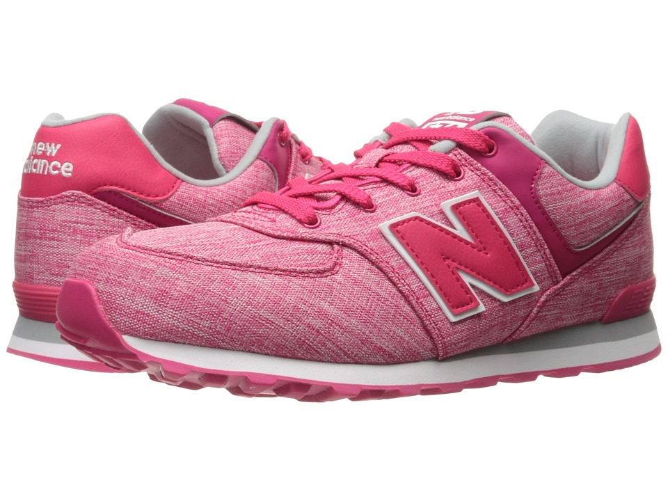 New Balance Kids KL574v1 (Infant/Toddler) (Pink/White 3) Girls Shoes