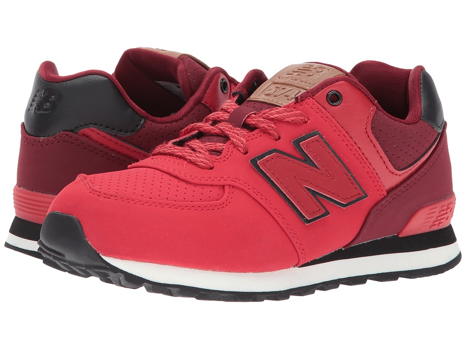 New Balance Kids KL574v1 (Little Kid) (Red/Black) Boys Shoes