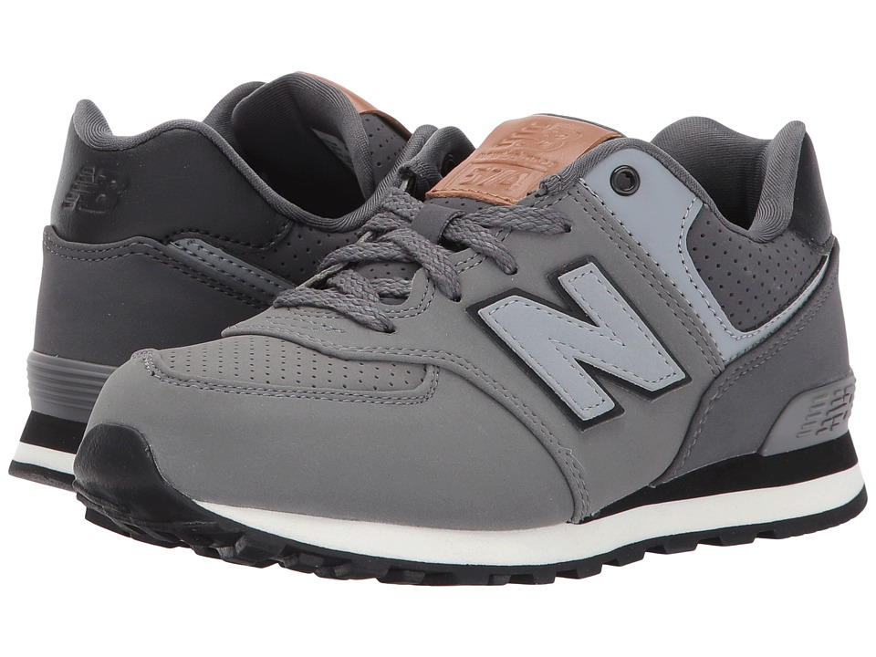 New Balance Kids KL574v1 (Little Kid) (Grey/Black) Boys Shoes
