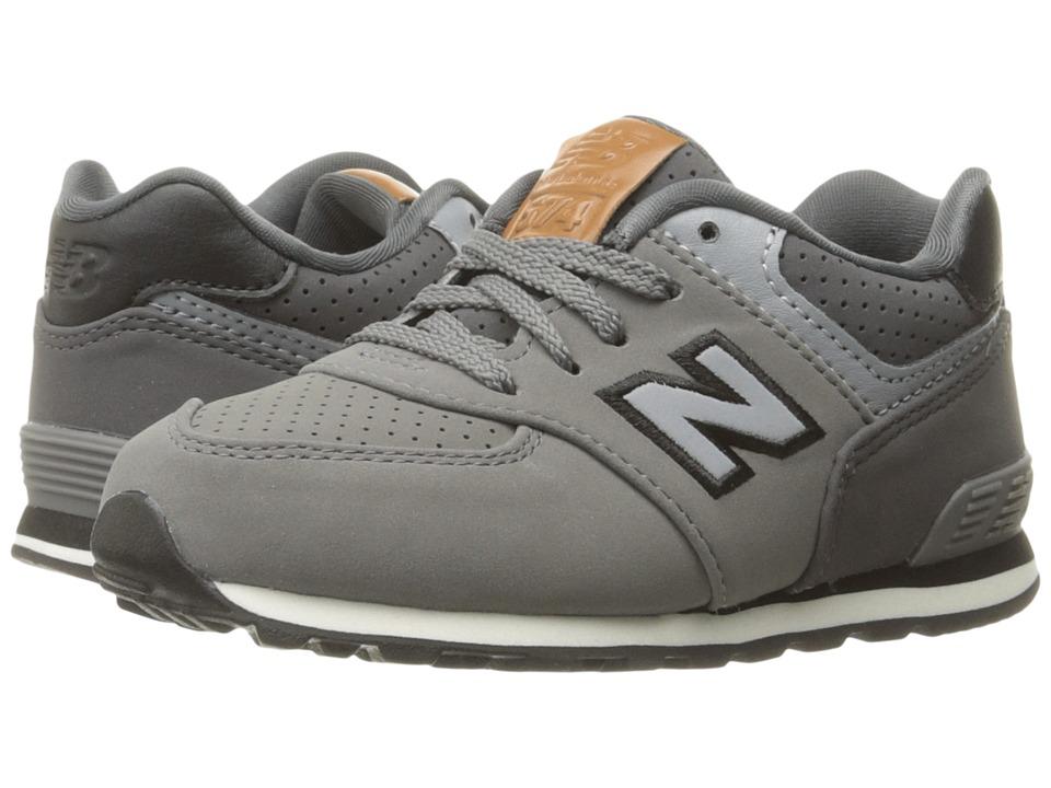 New Balance Kids KL574v1 (Infant/Toddler) (Grey/Black) Boys Shoes