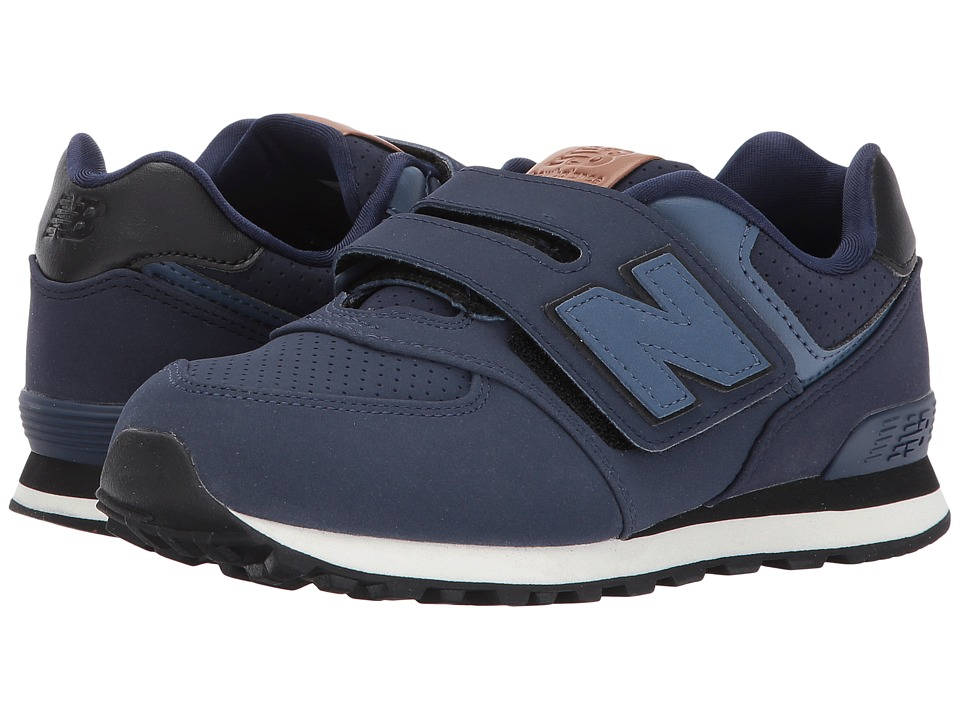 New Balance Kids KV574v1 (Little Kid/Big Kid) (Blue/Black) Boys Shoes
