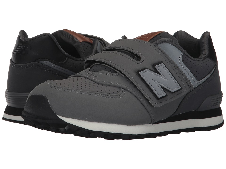New Balance Kids KV574v1 (Little Kid/Big Kid) (Grey/Black) Boys Shoes
