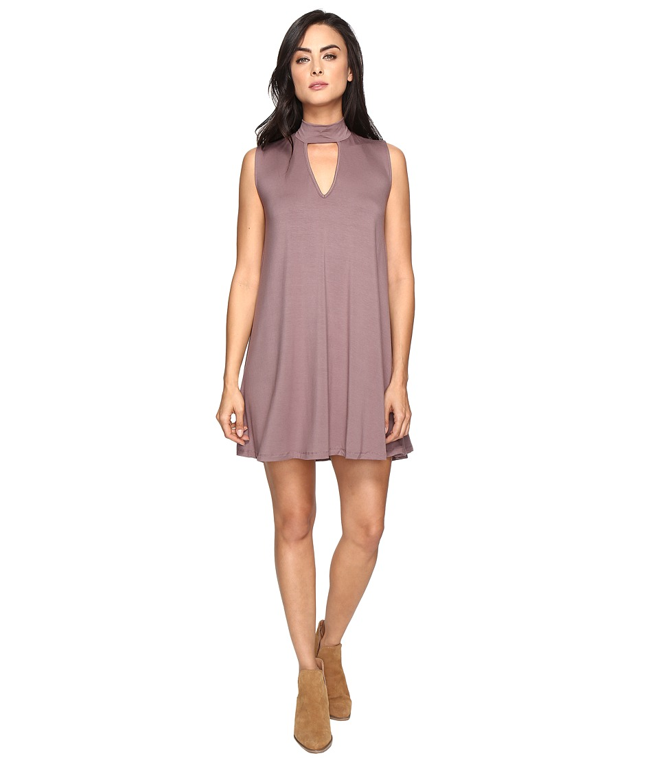 Culture Phit Ashlynn High Neck Dress (Midnight) Women