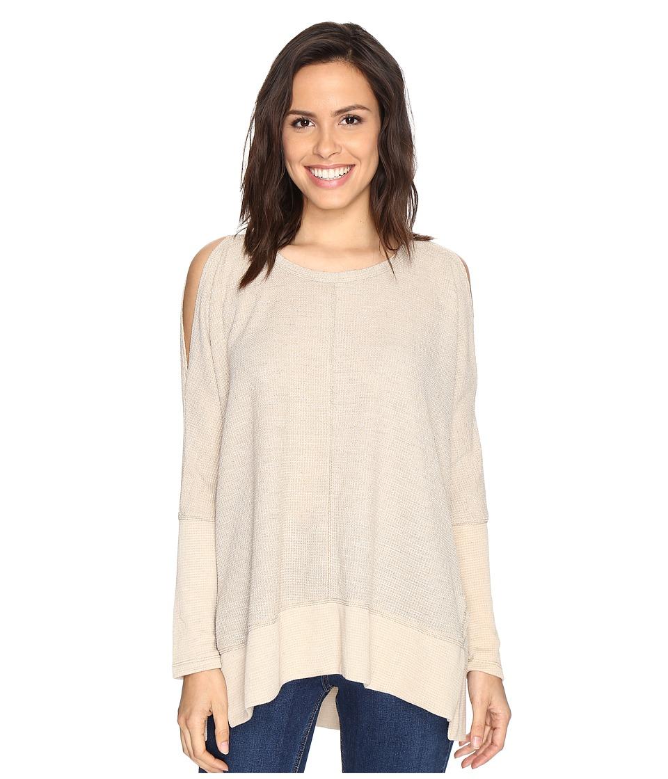 Culture Phit Elise Long Sleeve Top with Open Shoulder (Beige) Women