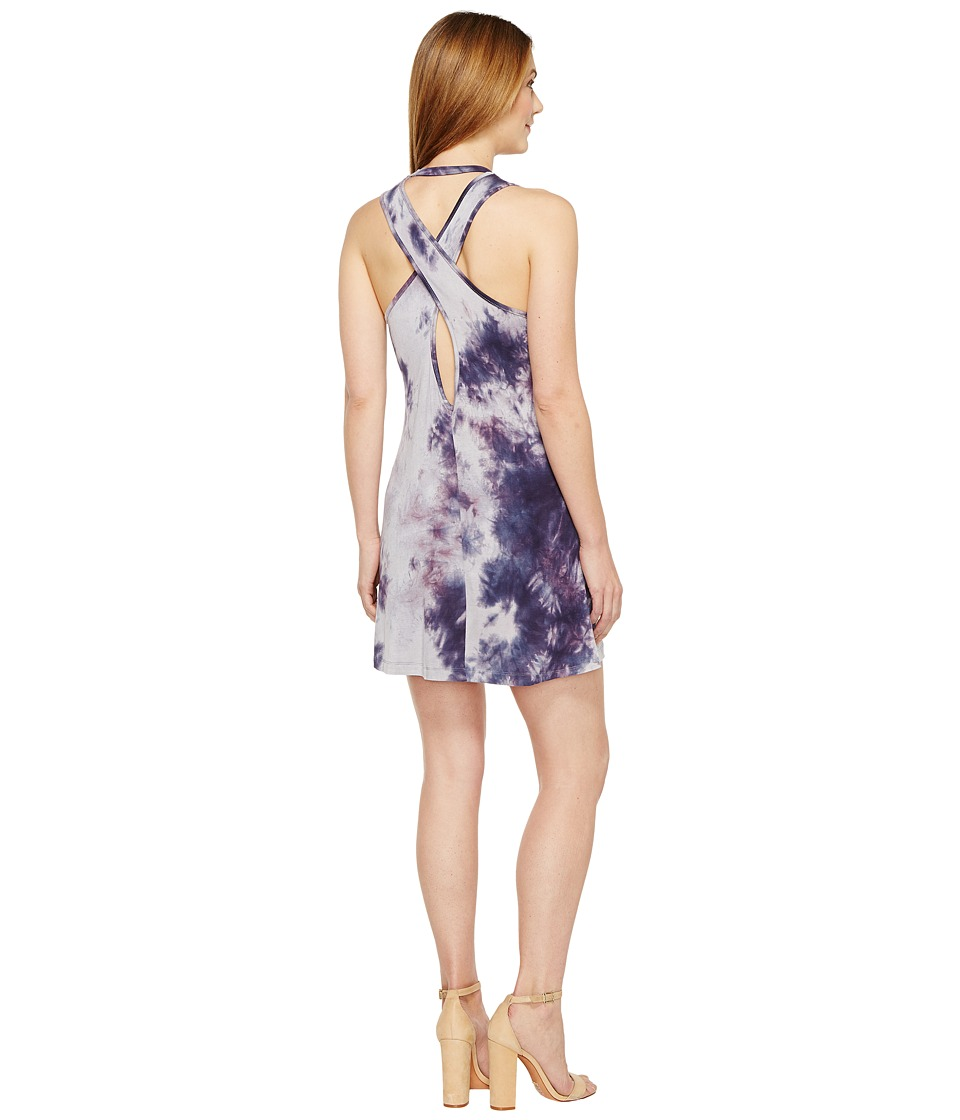 Culture Phit Adara Sleeveless Cross-Back Dress (Purple) Women