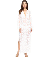 Nicole Miller - La Plage By Nicole Miller Long Sleeve Caviar Embroidery Cover-Up