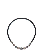 Majorica - Leather Graduated Necklace