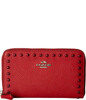 COACH - Lacquer Rivets Medium Zip Around
