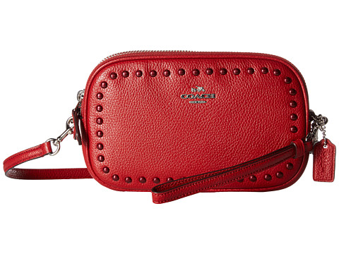 COACH Lacquer Rivets Crossbody Clutch
