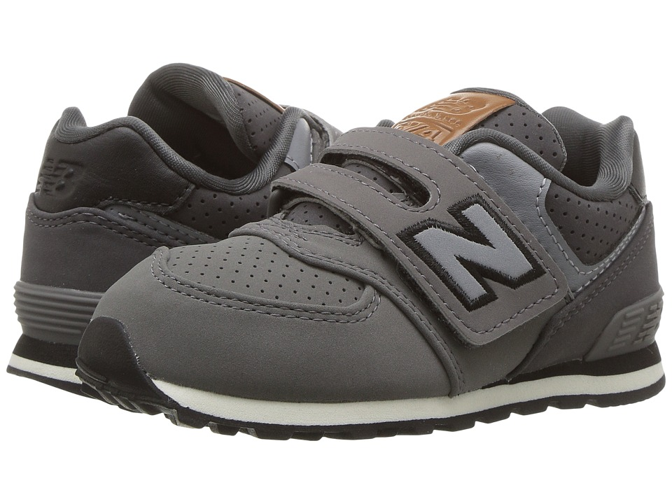 New Balance Kids KV574v1 (Infant/Toddler) (Grey/Black) Boys Shoes