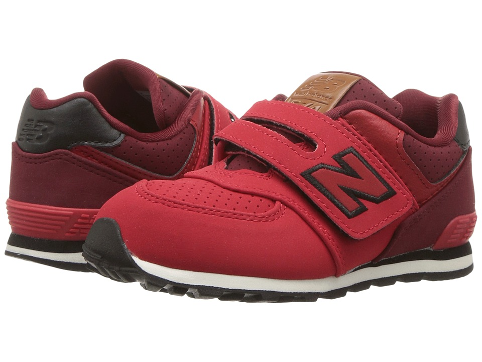 New Balance Kids KV574v1 (Infant/Toddler) (Red/Black 2) Boys Shoes