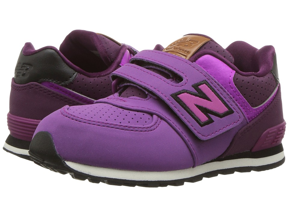 New Balance Kids KV574v1 (Infant/Toddler) (Purple/Black) Girls Shoes