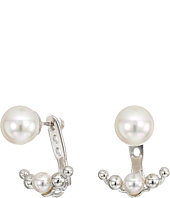 Majorica - 5/8mm Round Pearl on a Sterling Silver Ear Jacket Earrings