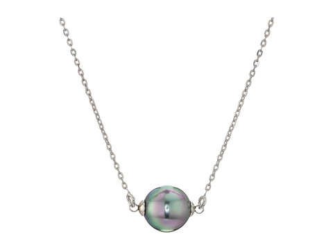 Majorica 10mm Single Pearl Necklace - Gray