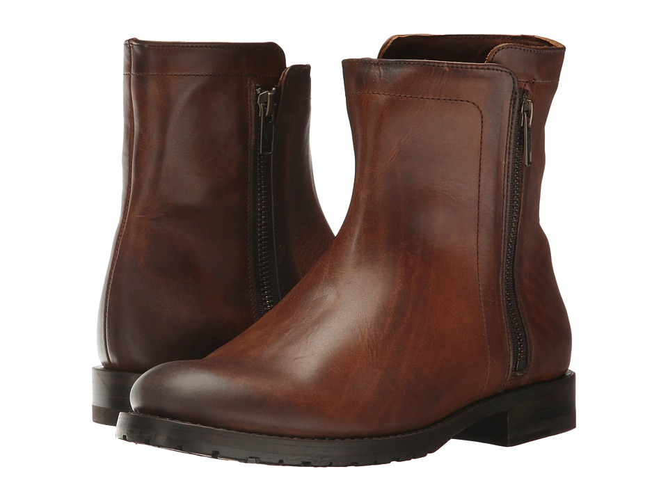 Frye Natalie Double Zip (Whiskey Oil Tanned Full Grain) Women