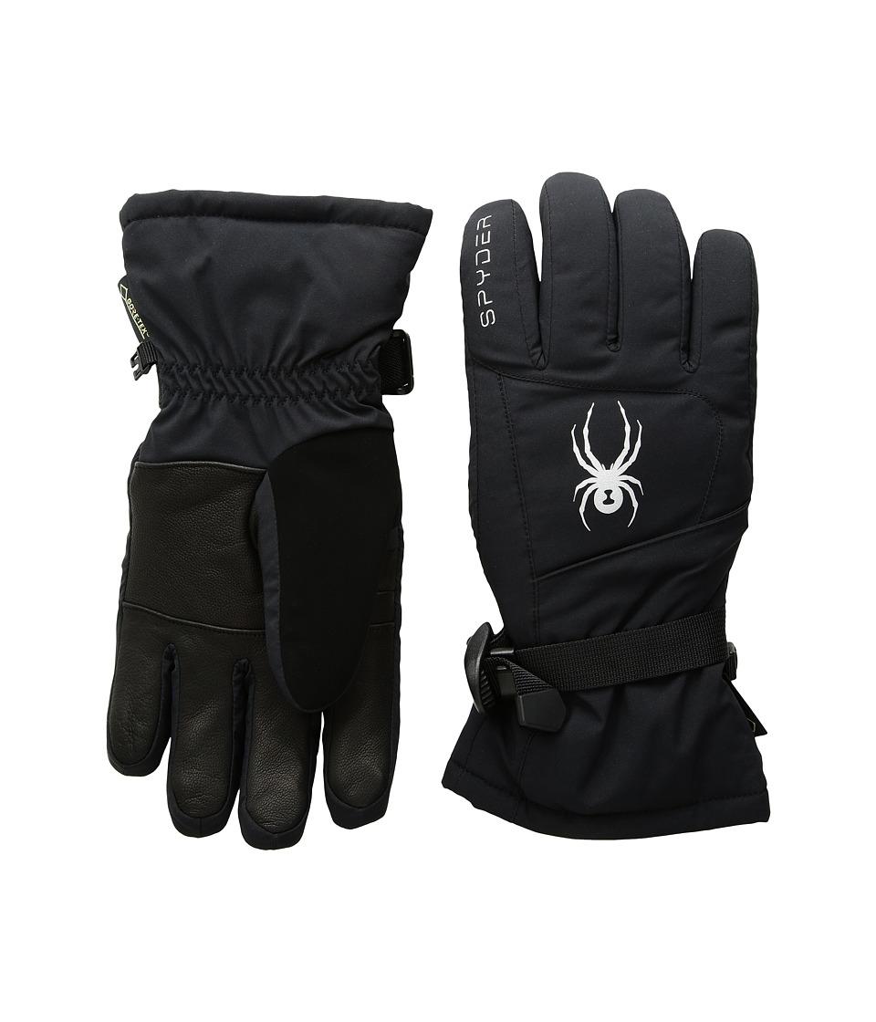 Spyder Synthesis Gore-Tex(r) Ski Gloves (Black/Silver) Ski Gloves
