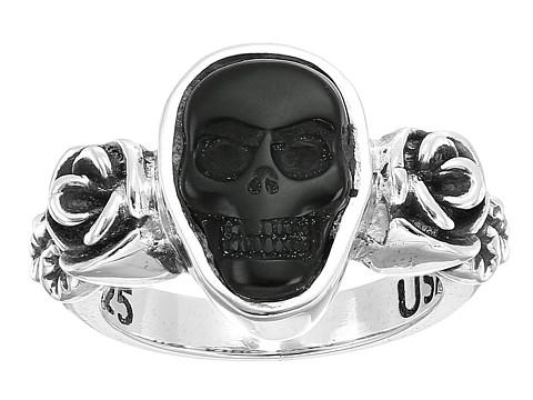 King Baby Studio Obsidian Skull & Rose Ring