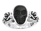 King Baby Studio Obsidian Skull Rose Ring