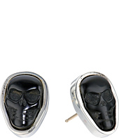 King Baby Studio - Obsidian Skull Stud Earrings