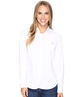 U.S. POLO ASSN. - Stretch Poplin Roll Cuff Shirt