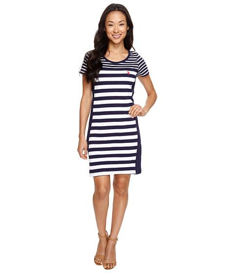 U.S. POLO ASSN. Short Sleeve Multi-Striped Dress