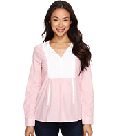 U.S. POLO ASSN. - Long Sleeve Poplin Babydoll Top