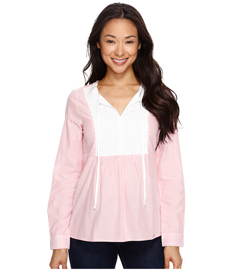 U.S. POLO ASSN. Long Sleeve Poplin Babydoll Top