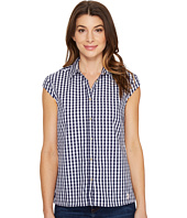 U.S. POLO ASSN. - Classic Short Sleeve Gingham Blouse