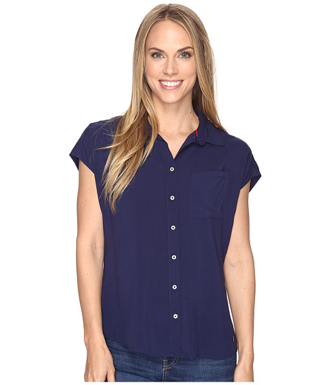 U.S. POLO ASSN. Short Dolman Sleeve Challis Blouse