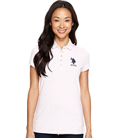 U.S. POLO ASSN. - All Over Print Stretch Pique Polo Shirt