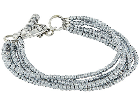 King Baby Studio 8 Strand Hematite Bracelet w/ Mini Toggle Clasp - Silver