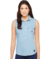 U.S. POLO ASSN. - Sleeveless Denim Blouse