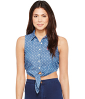 U.S. POLO ASSN. - Sleeveless Denim Crop Top