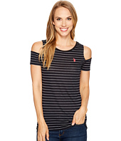 U.S. POLO ASSN. - Striped Open Shoulder T-Shirt