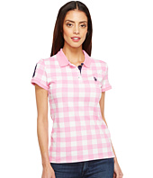 U.S. POLO ASSN. - Print Pique Polo Shirt